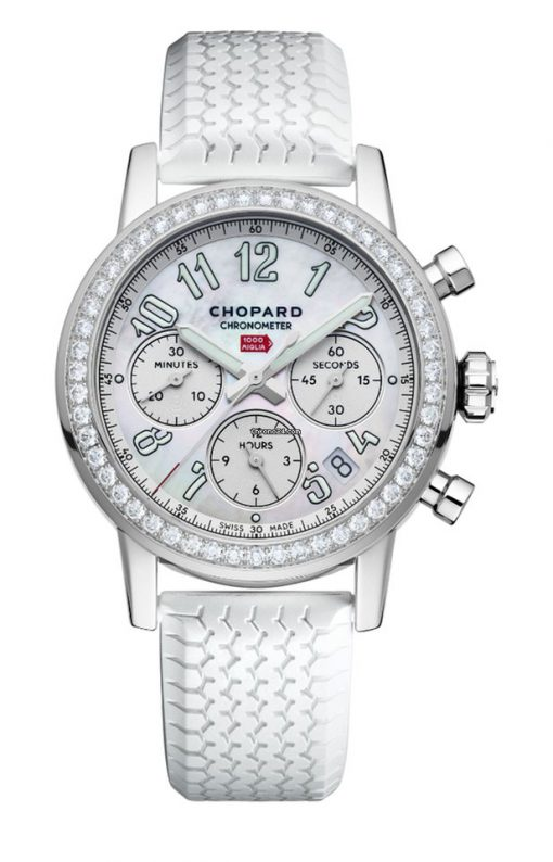 Chopard Mille Miglia Classic Chronograph Stainless Steel & Diamonds Ladies Watch, 178588-3001
