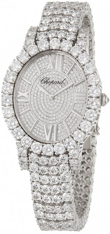 Chopard L'Heure Du Diamant 18K White Gold & Diamonds Ladies Watch, 109420-1002