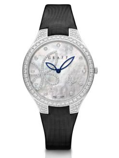 Graff Butterfly Silhouette White Gold & Diamonds Ladies Watch butterfly-sil-wg-dmpd