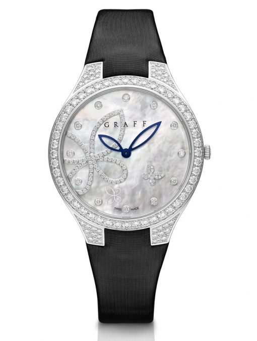 Graff Butterfly Silhouette White Gold & Diamonds Ladies Watch, butterfly-sil-wg-dmpd