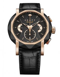 Graff ChronoGraff DLC & Rose Gold Men's Watch chronograff-45mm-dlcrg-bd