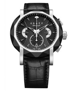 Graff ChronoGraff DLC & White Gold Men's Watch chronograff-45mm-dlcwg-bd