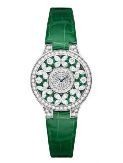 Graff Classic Butterfly White Gold, Emeralds & Diamonds Ladies Watch butterfly-cl-wg-edd