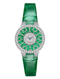Graff Classic Butterfly White Gold, Emeralds & Diamonds Ladies Watch butterfly-cl-wg-ed