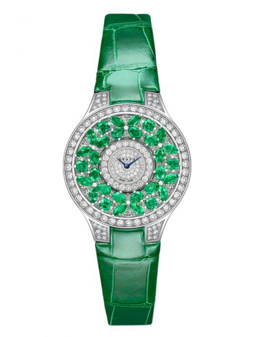 Graff Classic Butterfly White Gold, Emeralds & Diamonds Ladies Watch, butterfly-cl-wg-ed