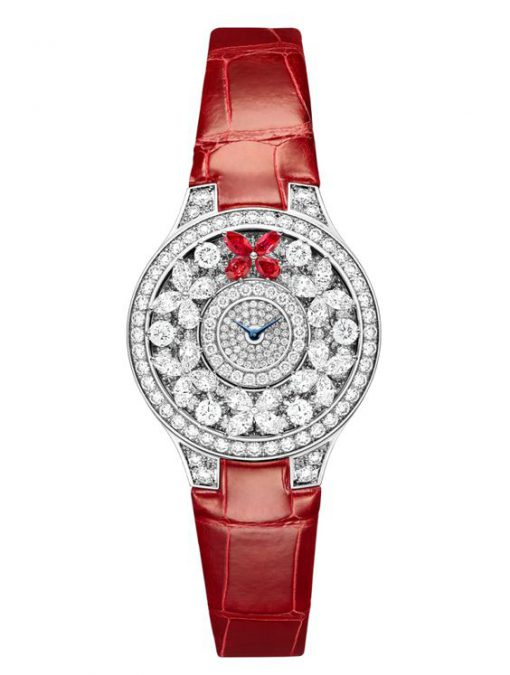 Graff Classic Butterfly White Gold, Rubies & Diamonds Ladies Watch, butterfly-cl-wg-drd