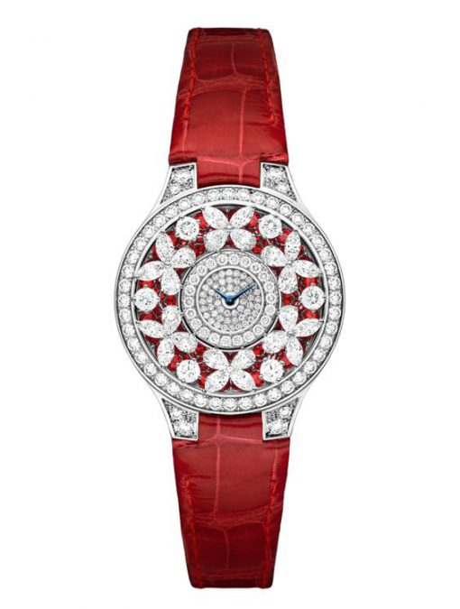 Graff Classic Butterfly White Gold, Rubies & Diamonds Ladies Watch, butterfly-cl-wg-rdd