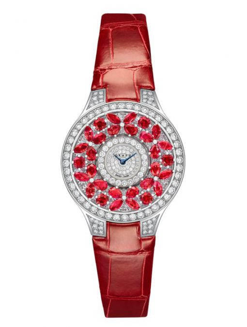 Graff Classic Butterfly White Gold, Rubies & Diamonds Ladies Watch, butterfly-cl-wg-rd