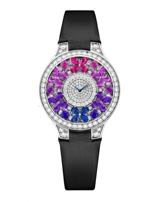 Graff Classic Butterfly White Gold, Sapphires & Diamonds Ladies Watch, butterfly-cl-wg-csd