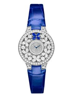 Graff Classic Butterfly White Gold, Sapphires & Diamonds Ladies Watch butterfly-cl-wg-sds