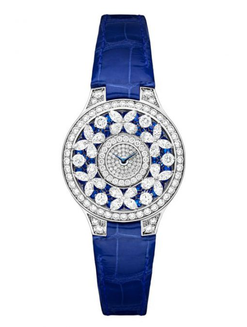 Graff Classic Butterfly White Gold, Sapphires & Diamonds Ladies Watch, butterfly-cl-wg-sdd