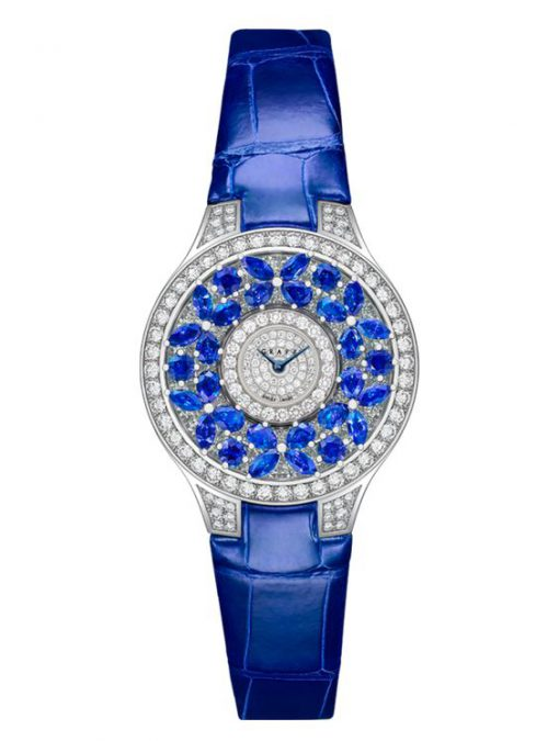 Graff Classic Butterfly White Gold, Sapphires & Diamonds Ladies Watch, butterfly-cl-wg-sd
