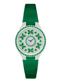 Graff Disco Butterfly White Gold, Emeralds & Diamonds Ladies Watch butterfly-dis-wg-ed