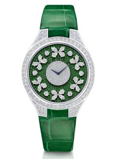 Graff Disco Butterfly White Gold, Emeralds & Diamonds Ladies Watch butterfly-dis-wg-de