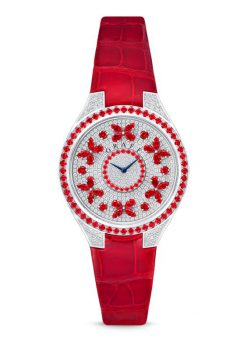 Graff Disco Butterfly White Gold, Rubies & Diamonds Ladies Watch butterfly-dis-wg-rd