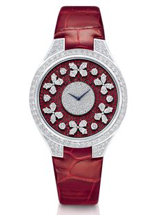 Graff Disco Butterfly White Gold, Rubies & Diamonds Ladies Watch butterfly-dis-wg-dr