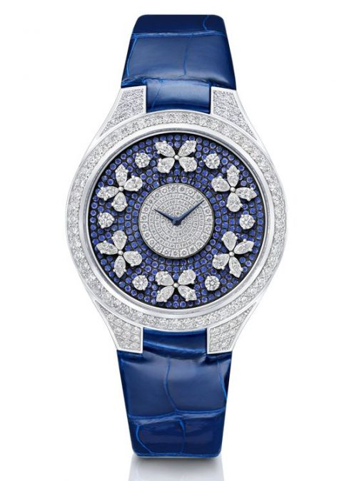 Graff Disco Butterfly White Gold, Sapphires & Diamonds Ladies Watch, butterfly-dis-wg-ds