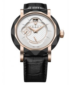 Graff GraffStar Grand Date 18K Rose Gold & DLC Men's Watch star-grand-rgdlc-wd-bc