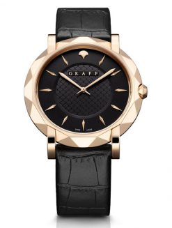 Graff GraffStar Slim 18K Rose Gold Men's Watch star-rg-bl-bc