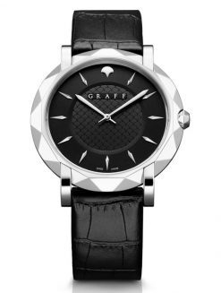 Graff GraffStar Slim 18K White Gold Men's Watch star-wg-bl-bc