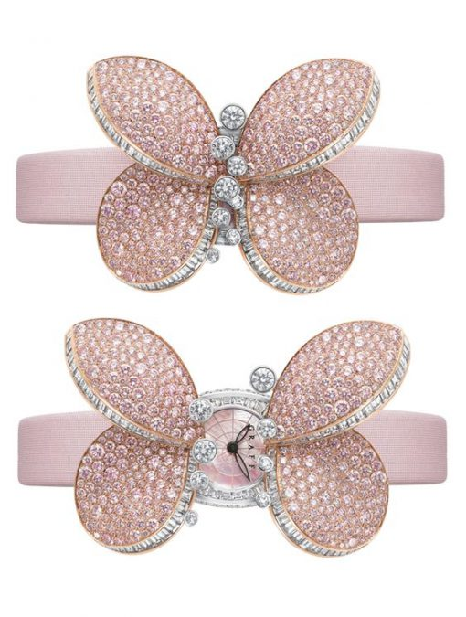 Graff Princess Butterfly White Gold & Pink Diamonds Ladies Watch, butterfly-princ-wg-pd