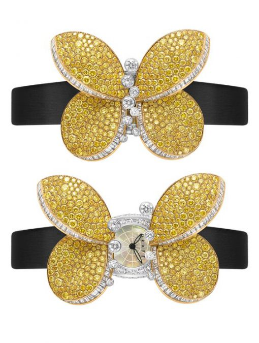 Graff Princess Butterfly White Gold & Yellow Diamonds Ladies Watch, butterfly-princ-wg-yd