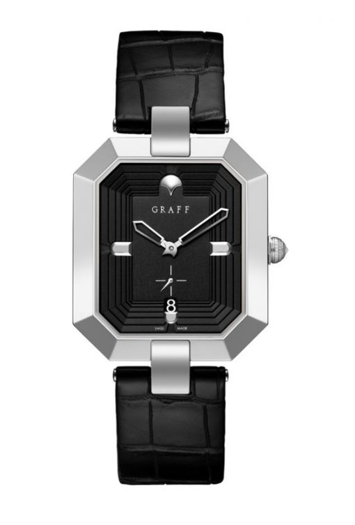 Graff Vendôme 18K White Gold Men's Watch, vendome-wg-wg-black-40mm