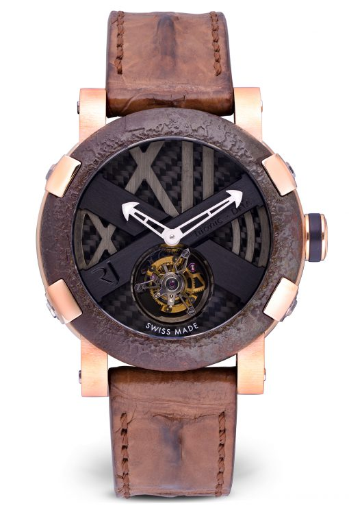 Romain Jerome Titanic-Dna 18K Rose Gold & Stainless Steel Men's Watch, Preowned-TO.T.OXY3.2222.00.BB