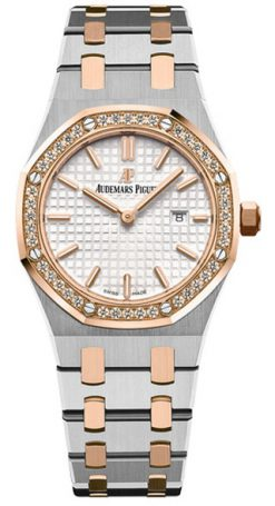Audemars Piguet Royal Oak Quartz 18K Pink Gold & Stainless Steel & Diamonds… 67651SR.ZZ.1261SR.01