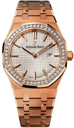 Audemars Piguet Royal Oak Quartz 18K Rose Gold Diamonds Ladies Watch 67651OR.ZZ.1261OR.01