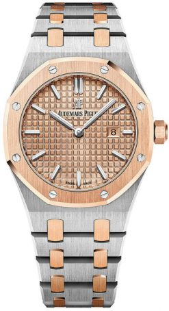 Audemars Piguet Royal Oak Quartz 18K Pink Gold & Stainless Steel Ladies Watch 67650SR.OO.1261SR.01