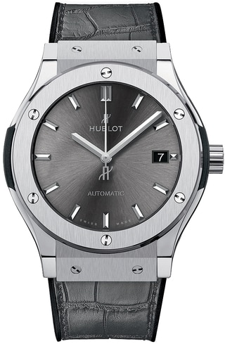 Hublot Classic Fusion 45mm Titanium Racing Grey Automatic Watch, 511.NX.7071.LR
