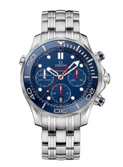 Omega Seamaster Diver Co-Axial Chronograph Stainless Steel Men's Watch 212.30.42.50.03.001