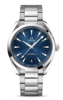 Omega Seamaster Aqua Terra 150M Co-Axial Master Chronometer Blue 41mm Men's Watch 220.10.41.21.03.001