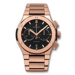 Hublot Classic Fusion 45mm Automatic Chronograph King Gold Bracelet Watch 520.OX.1180.OX