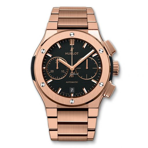 Hublot Classic Fusion 45mm Automatic Chronograph King Gold Bracelet Watch, 520.OX.1180.OX