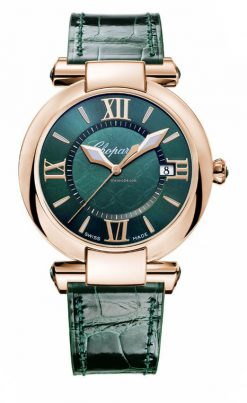Chopard Imperiale 18K Rose Gold & Green Tourmalines Ladies Watch 384221-5013