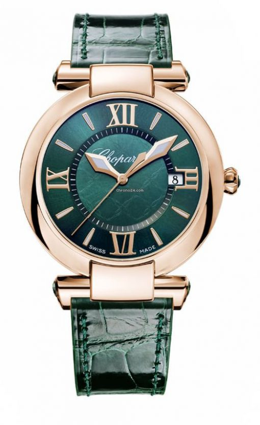 Chopard Imperiale 18K Rose Gold & Green Tourmalines Ladies Watch, 384221-5013