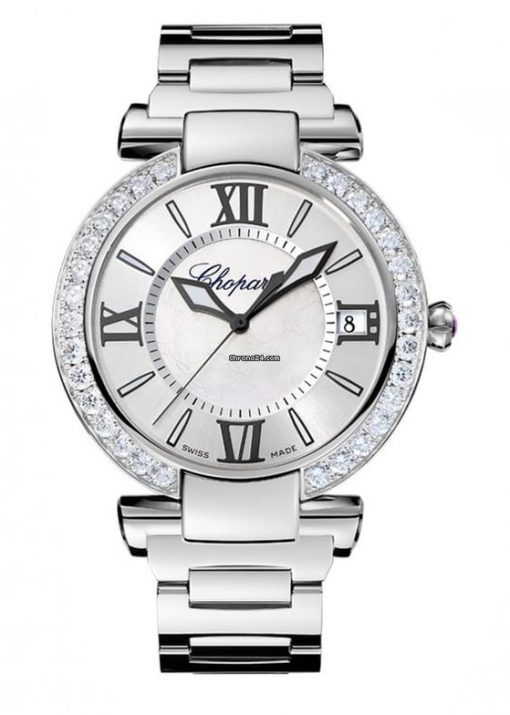 Chopard Imperiale Stainless Steel, Diamonds & Amethyst Ladies Watch, 388531-3012