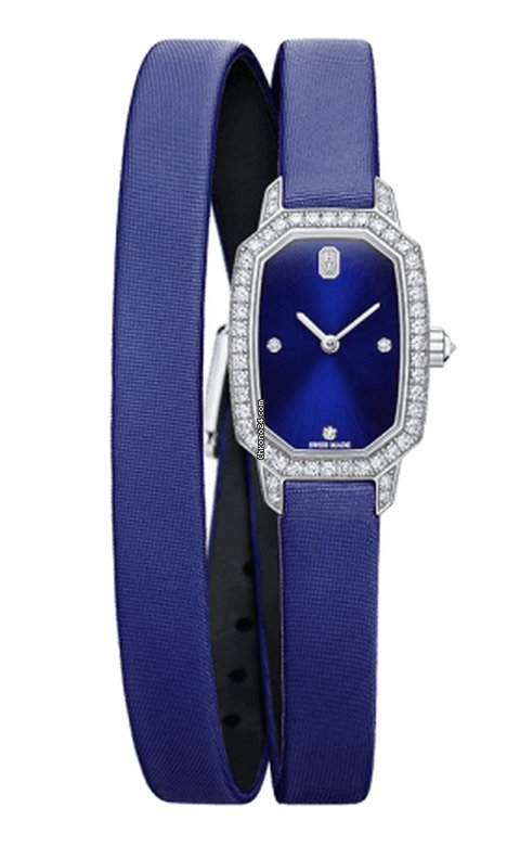 Harry Winston Emerald 18K White Gold & Diamonds Ladies Watch, EMEQHM18WW001