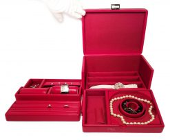 Scatola del Tempo Jewelry Storage Case Tesoro C Red Tesoro-C-Red