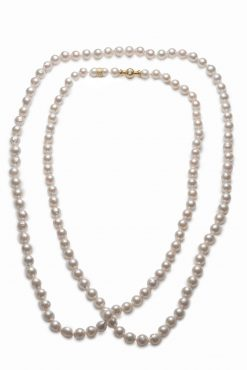 Mikimoto Opera Necklace With 18K Yellow Gold Clasp ASK262TV13