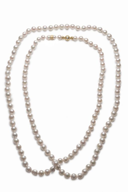 Mikimoto Opera Necklace With 18K Yellow Gold Clasp, ASK262TV13