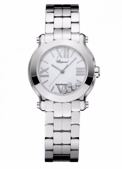 Chopard Happy Sport Stainless Steel & Diamonds Ladies Watch, 278509-3002