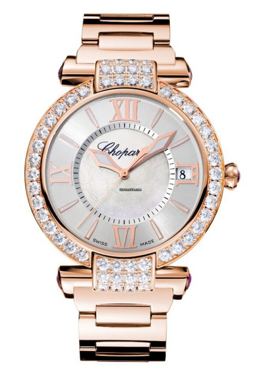 Chopard Imperiale 18K Rose Gold, Amethysts & Diamonds Ladies Watch, 384241-5004