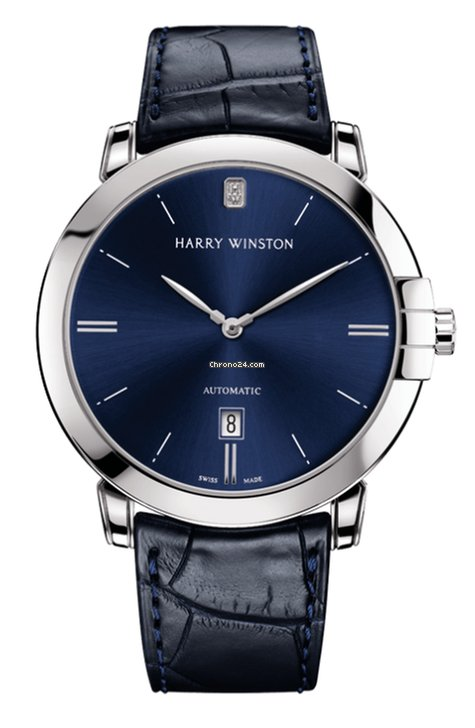 Harry Winston Automatic 18K White Gold Men's Watch, MIDAHD42WW002