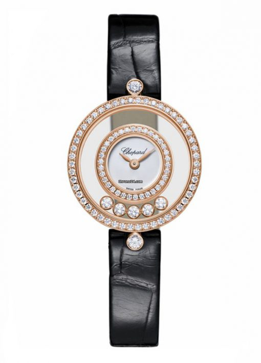Chopard Happy Sport Icons 18K Rose Gold & Diamonds Ladies Watch, 203957-5201