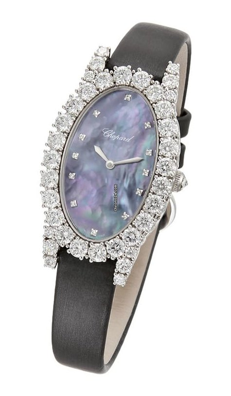 Chopard L'Heure Du Diamant 18K White Gold & Diamonds Ladies Watch, 139380-1004