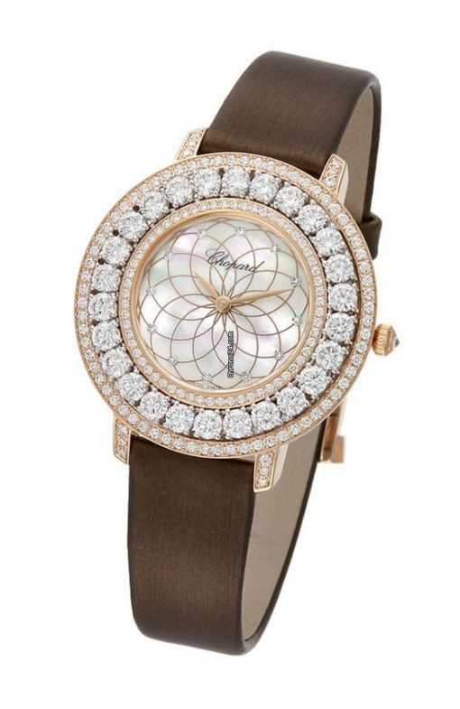 Chopard L'Heure Du Diamant 18K Rose Gold & Diamonds Ladies Watch, 139423-9002