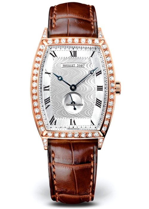 Brequet Héritage 3661 18K Rose Gold & Diamonds Ladies Watch, 3661BR/12/984/DD00